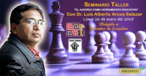 """Seminario """"El Ajedrez como herramienta educativa"""", 26 de enero 2018"""