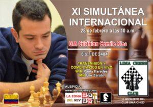 XI SIMULTANEA INTERNACIONAL GM CRISTHIAN CAMILO COLOMBIA